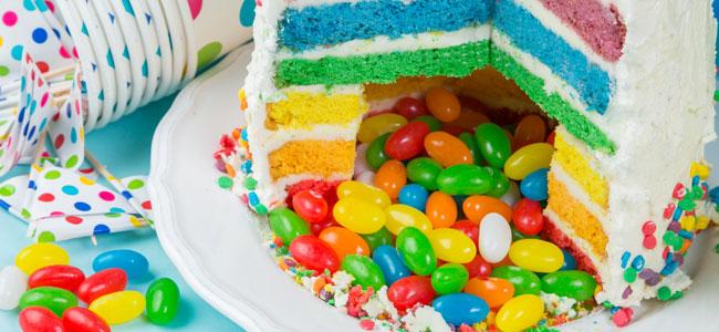 pastel con sorpresa