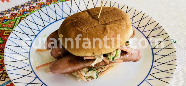 Hamburguesa de salchichas. Paso 5