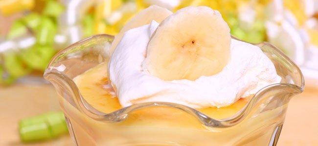receta de natillas de plátano