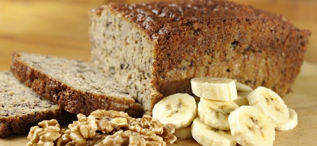 receta de pan de plátano con nueces