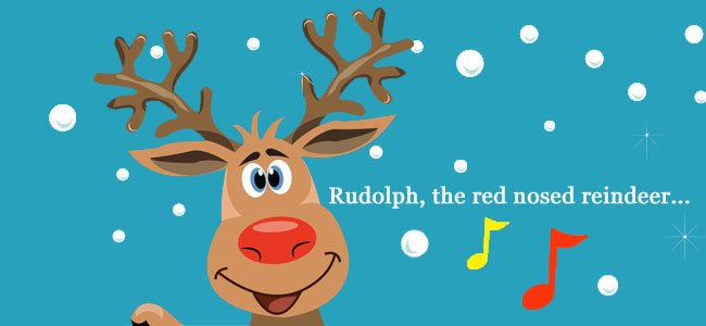 letra de Rudolph the red nosed reindeer