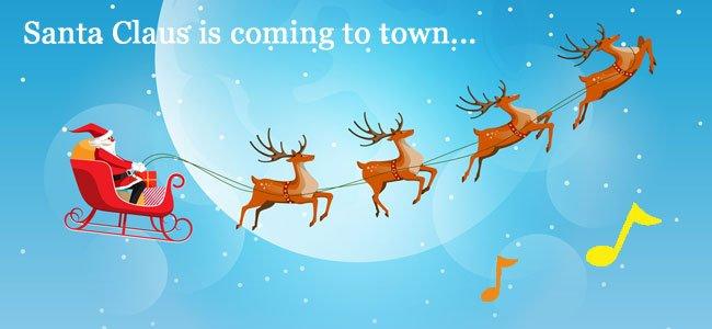 Letra de Santa claus is coming to town