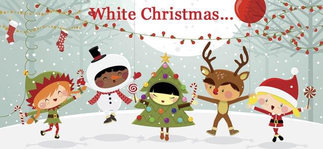 Blanca Navidad. Villancico en inglés para niños