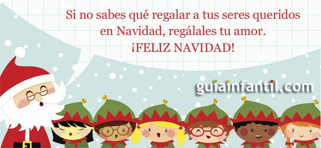 Felicitaciones de navidad para los ninos