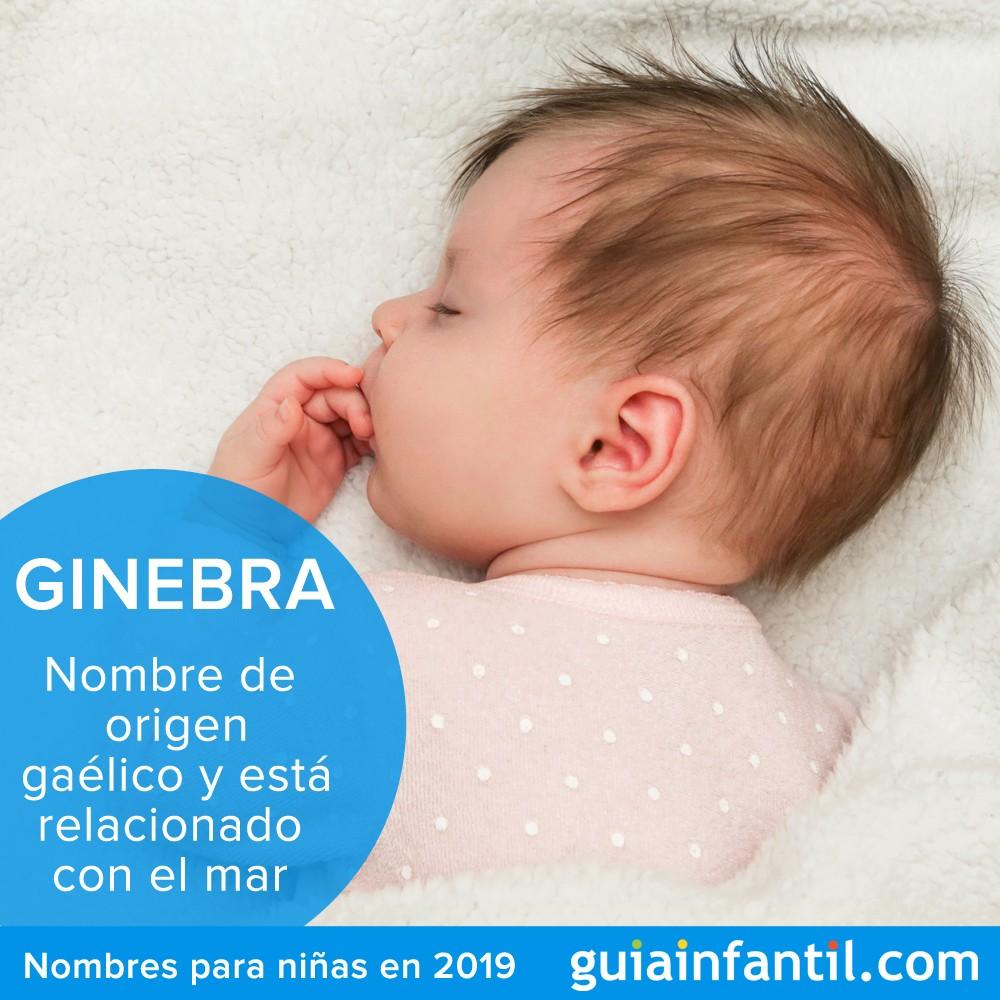 Nombres para niñas que nazcan en 2019: Ginebra