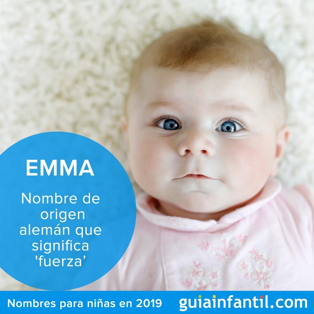 Emma es uno de los nombres para niñas más populares en 2019