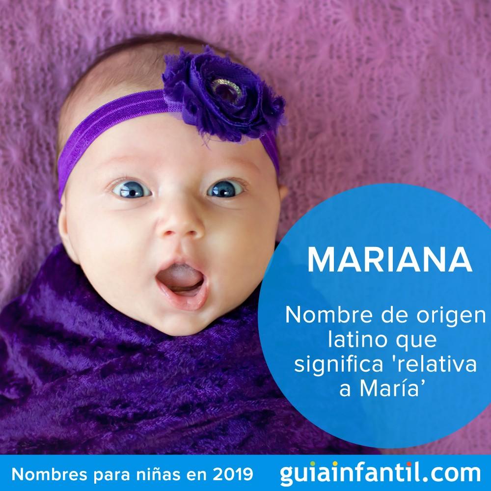 Nombres bonitos para niñas en 2019: Mariana