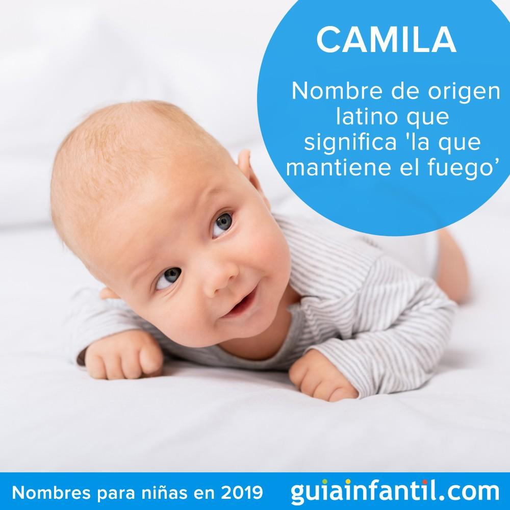 Camila es un nombre bonito y tradicional para niñas de 2019