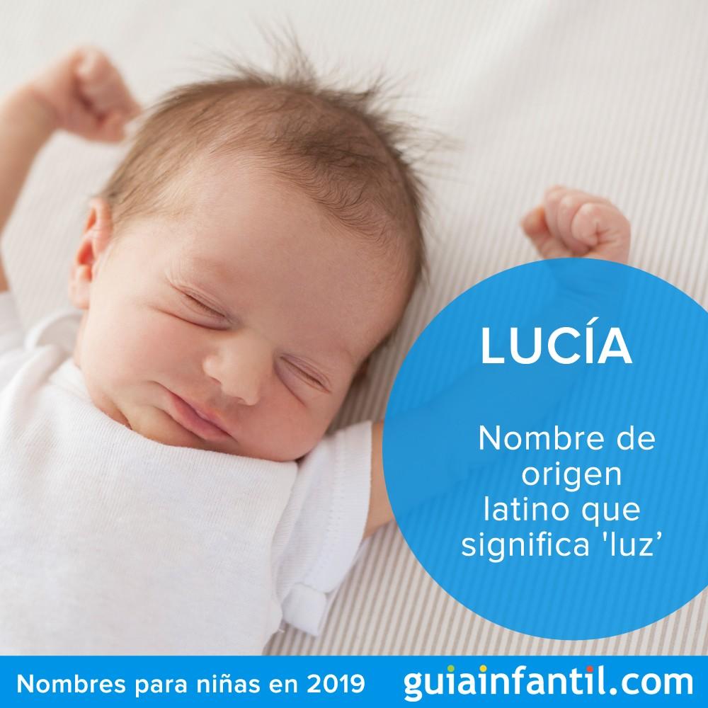 Lucía, uno de los nombres para niñas más populares