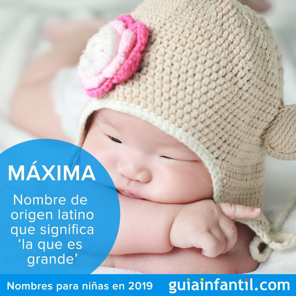 Máxima, nombres para niñas en 2019 originales