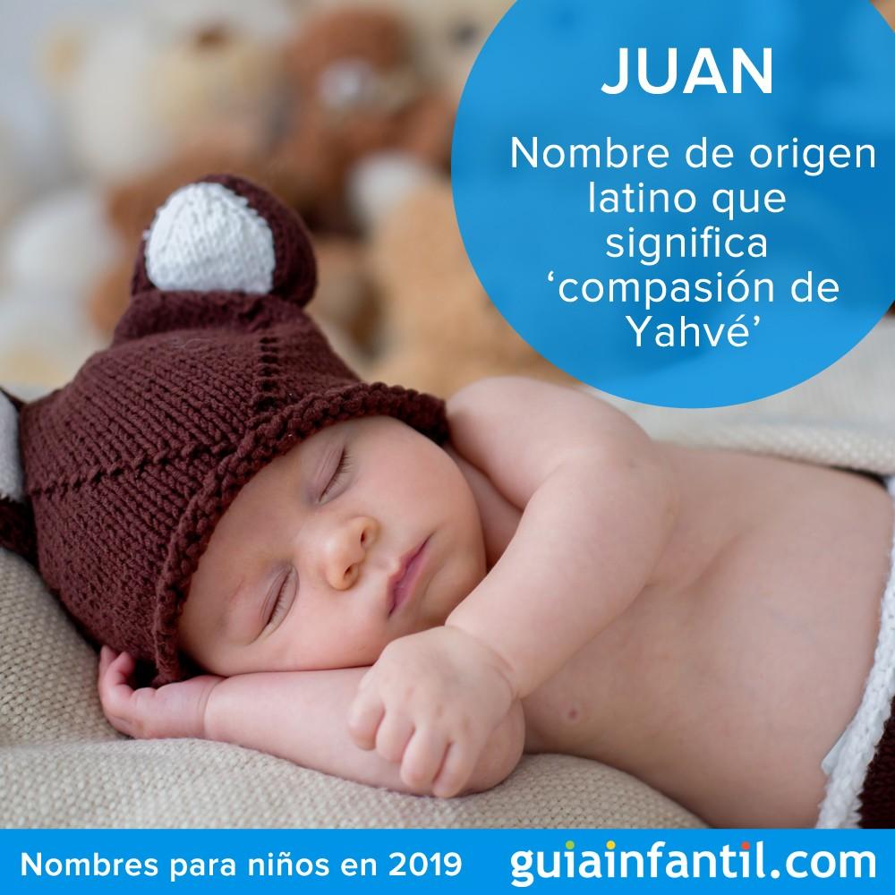 Nombres tradicionales para niños en 2019: Juan