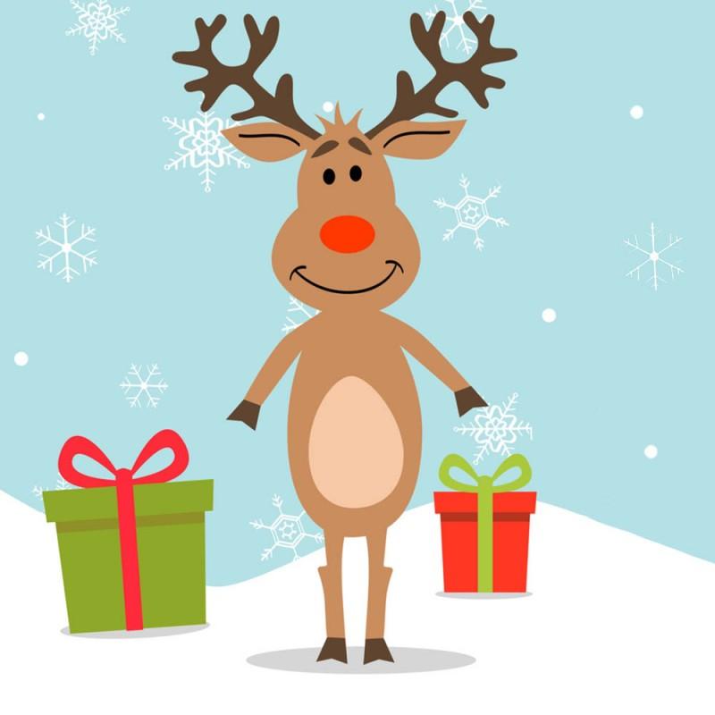 Rudolph the red-nosed reindeer. Cuento navideño en inglés para niños