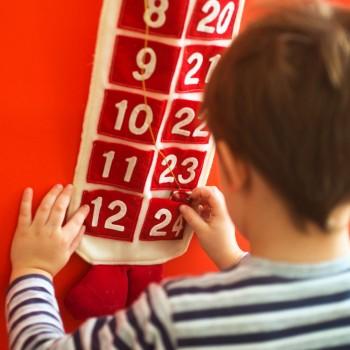Calendario de Adviento con originales planes para niños