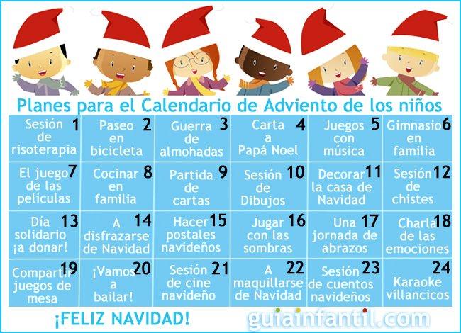 Calendario De Adviento Con Originales Planes Para Hacer Con