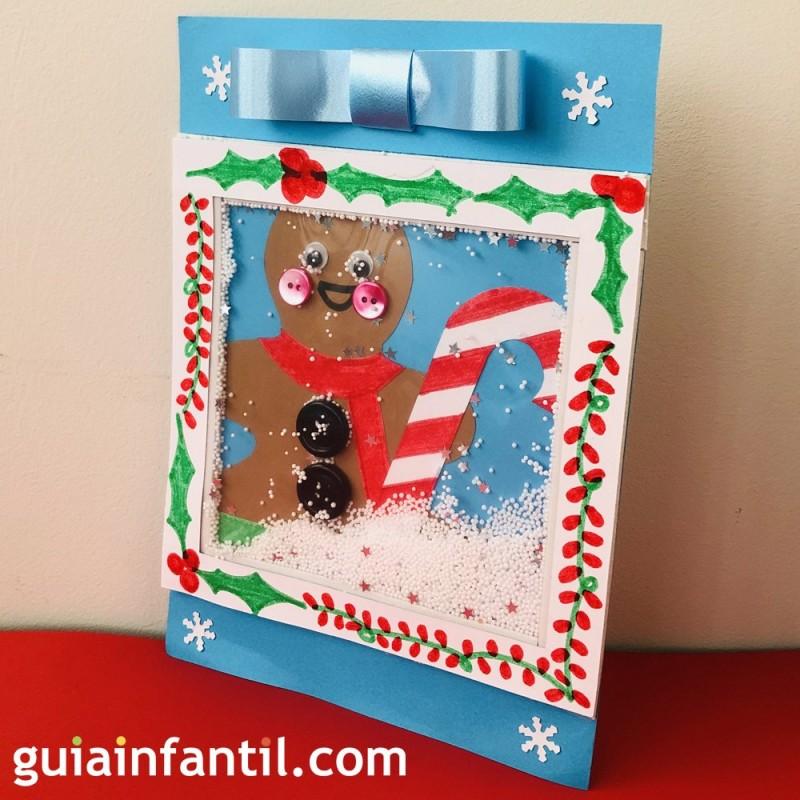 Hacer Postales Navidenas Fotos.Tarjeta De Navidad Personalizada Para Ninos Con Efecto