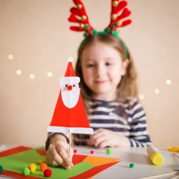 Manualidades de Papá Noel para hacer con niños en Navidad