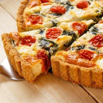 Receta de Quiche de espinacas, tomates cherry y queso feta