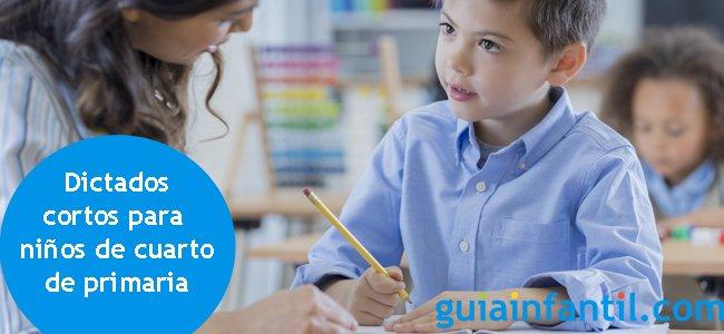 24 dictados cortos para niños de cuarto de primaria
