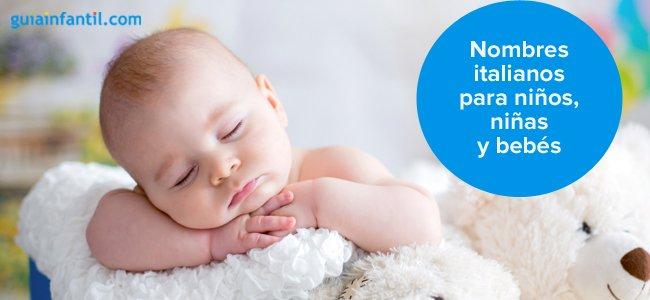 Nombres Italianos Para Niños Niñas Y Bebés