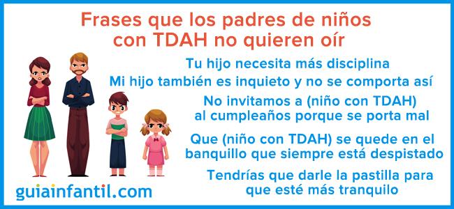 Frases Que Los Padres De Niños Con Tdah No Quieren Ni