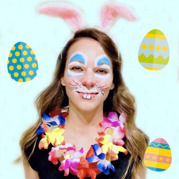 Maquillaje de conejo de Pascua sencillo