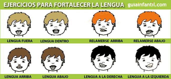 Ejercicios con la lengua para que los niños hablen bien