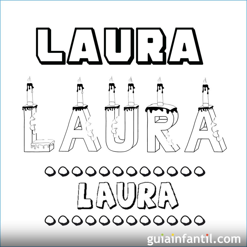 Dibujo del nombre Laura para colorear