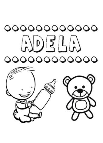 nombre Adela para colorear