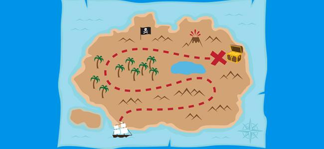 Mapa de la búsqueda del tesoro
