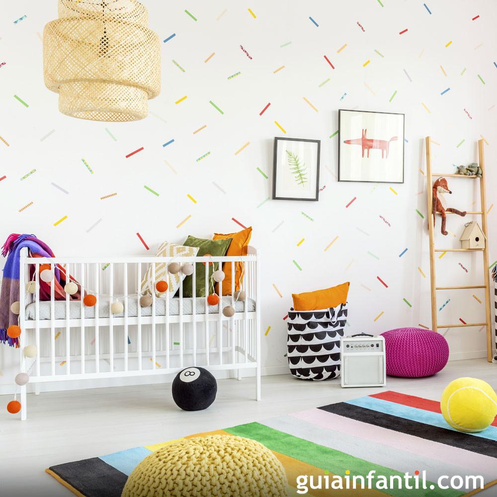 Decorar un cuarto de bebé en una habitación pequeña