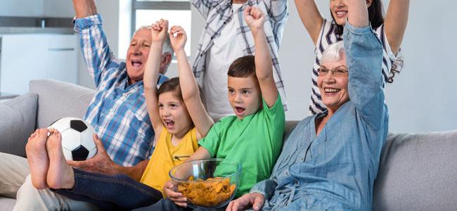 Aperitivos para ver partidos de fútbol con los niños