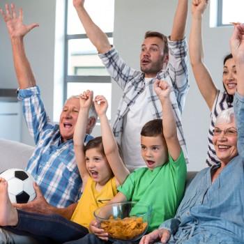 Recetas para ver un partido de fútbol en familia