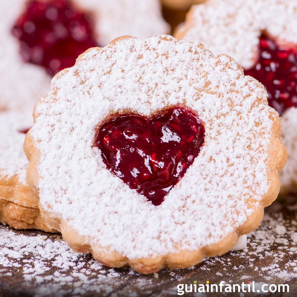 Galleta de corazones como adorno de Navidad