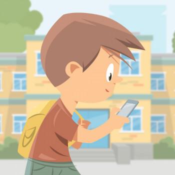 Cuento para niños que se exceden con el móvil