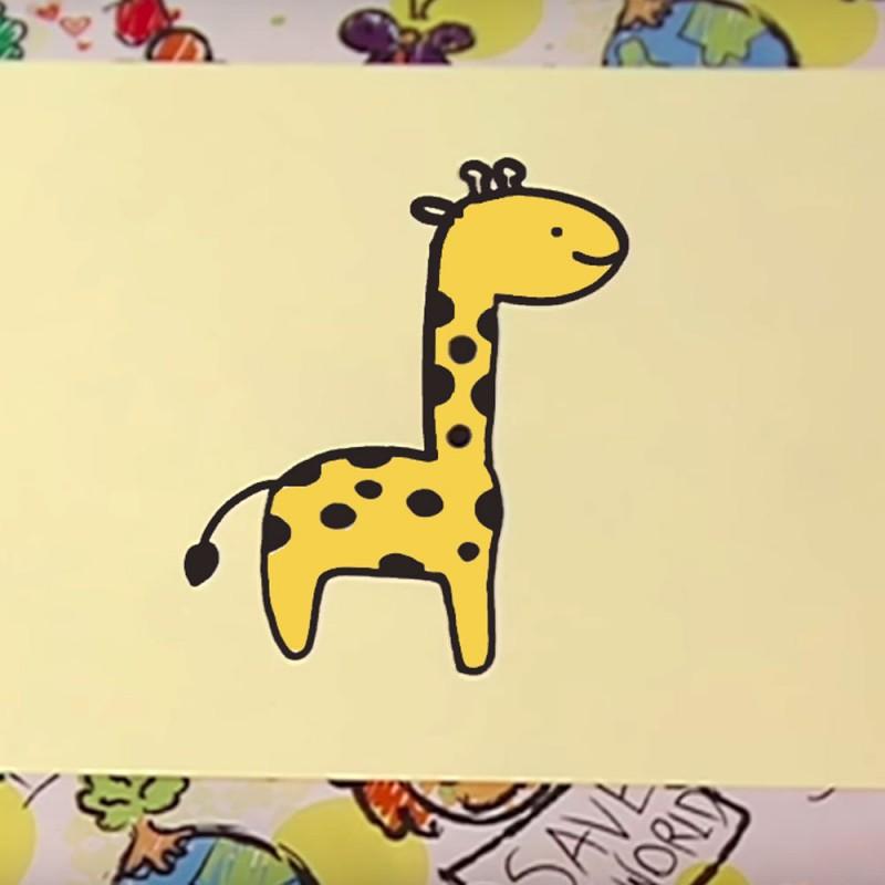 Cómo dibujar una jirafa. Dibujos para niños