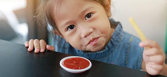 ketchup en la dieta de los niños