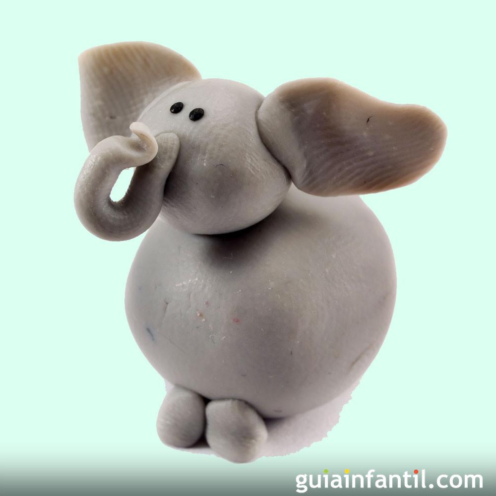 Cómo hacer elefantes de plastilina