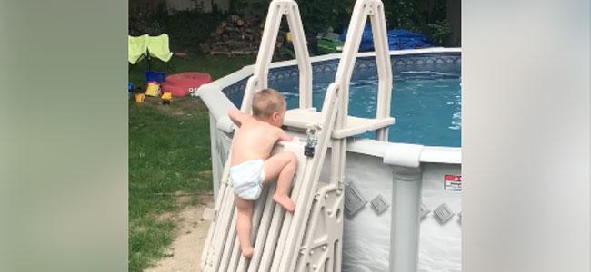 Un vídeo demuestra por qué no sirven las medidas de seguridad para bebés en la piscina