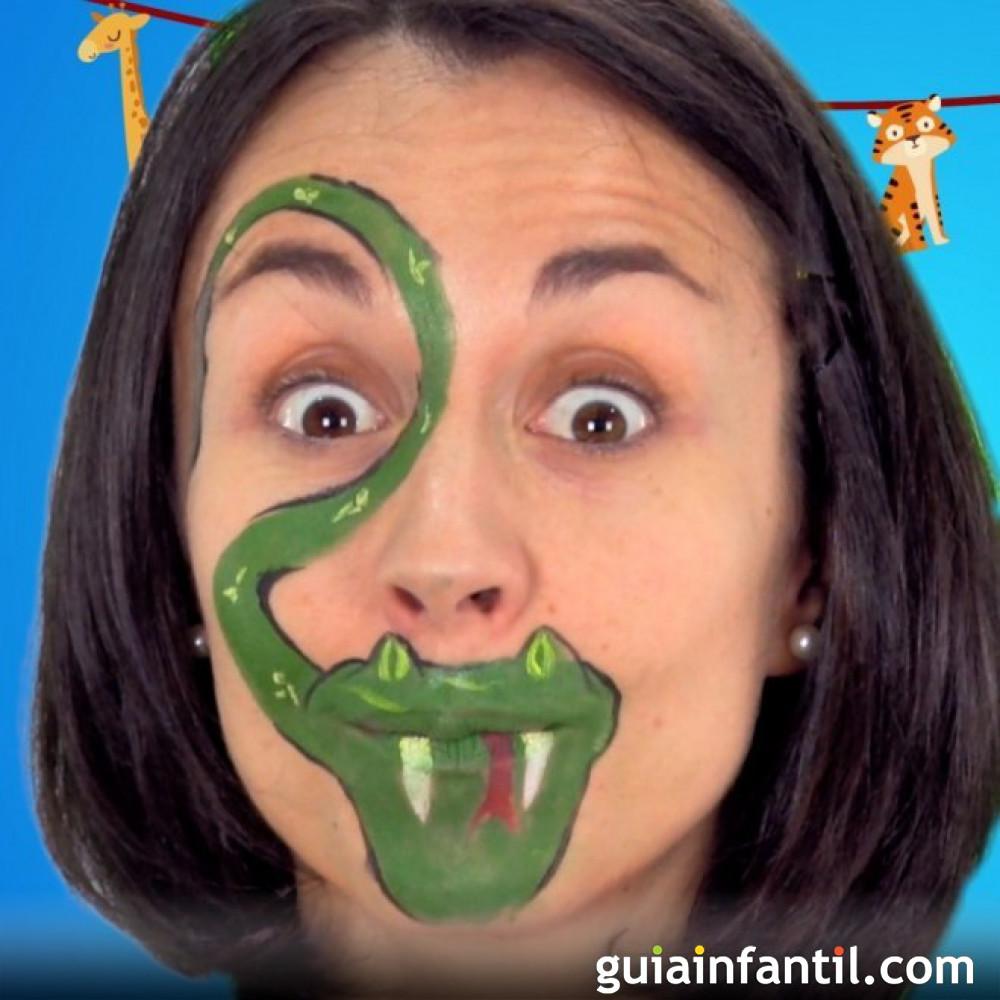 Maquillaje de serpiente para Halloween