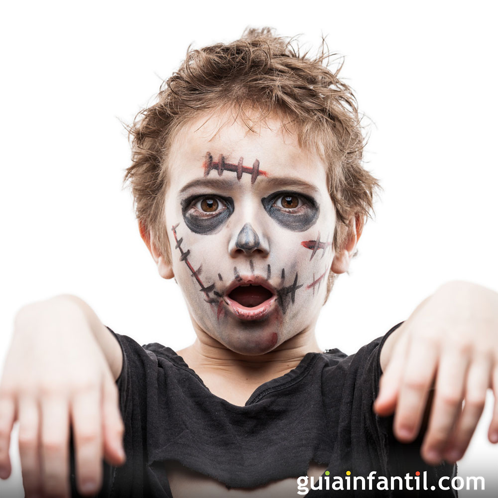Maquillaje de Zombi para niños