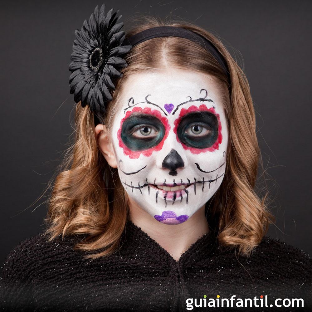 Maquillaje de la calavera mexicana