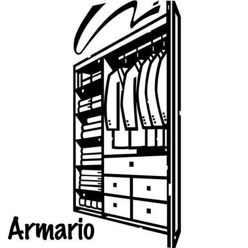 Dibujo para colorear de un armario