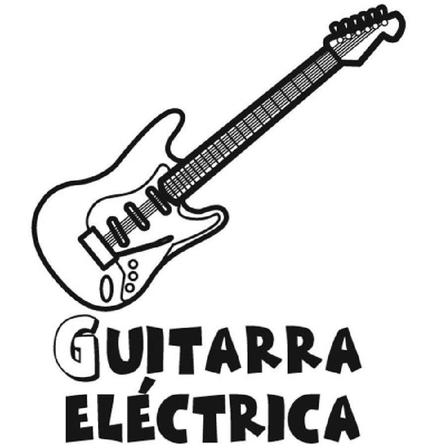 Dibujo para pintar de una guitarra eléctrica