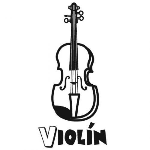 Dibujo de un violín para imprimir y colorear