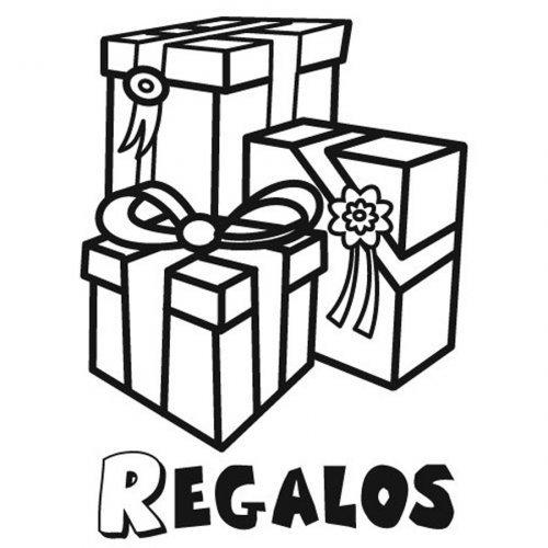 Dibujo para colorear de regalos de cumpleaños