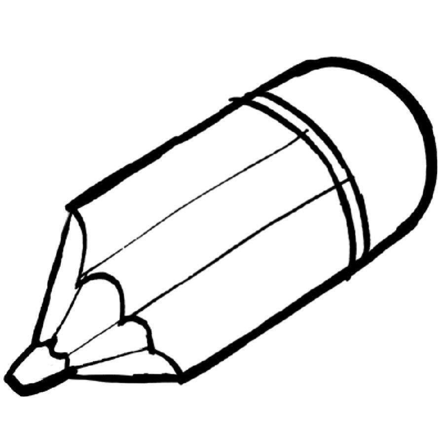 Dibujo para imprimir y colorear de un lápiz