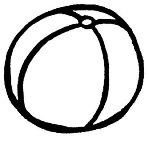 Dibujo de una pelota para imprimir y pintar