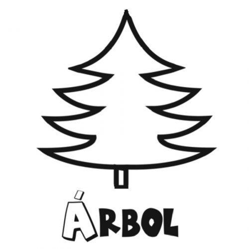 Dibujo de un pino para imprimir y pintar