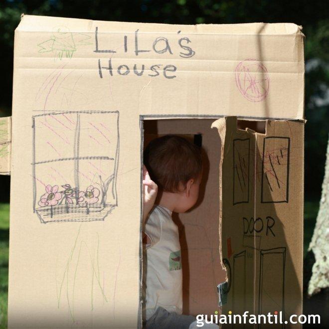 Una cabaña o casita para los niños