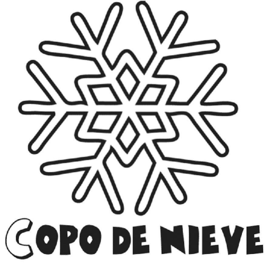 Dibujo de un copo de nieve para pintar